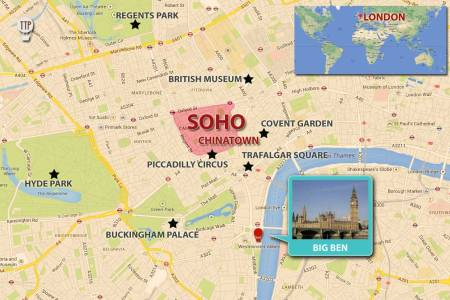 6 downtown soho and chinatown map attractions london