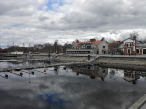 The train station by the lake in Östersund