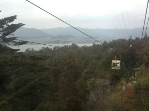 The ropeway in Miyajima