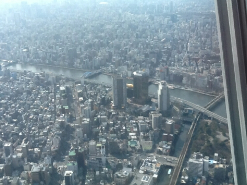 Asakusa seen from Tokyo Skytree