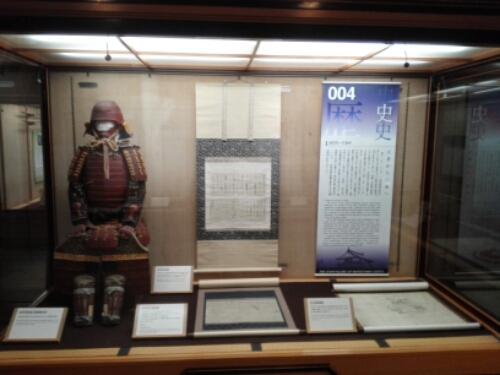 Samurai exhibit inside Matsuyama Castle