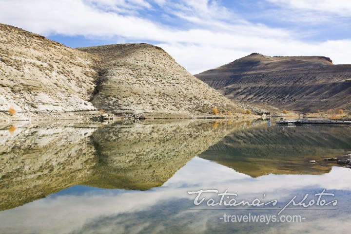 Flaming Gorge Reservoir water reflections