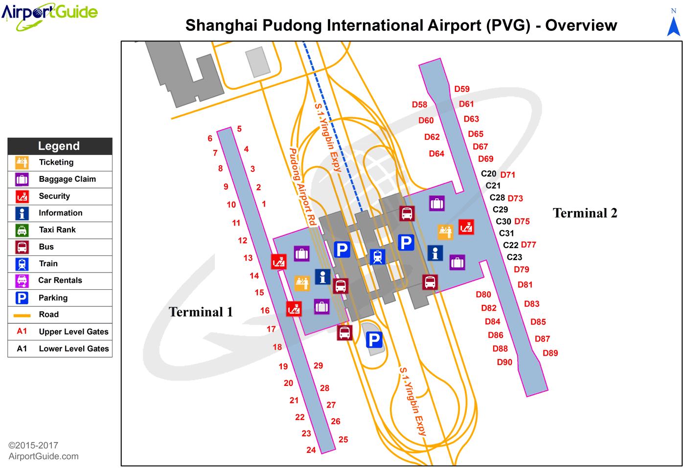 map shanghai pudong