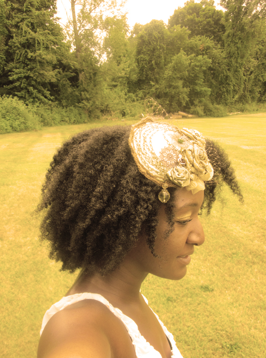 Travel Xena Fascinator Natural Hair