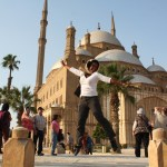Travel Xena jumping-Alabaster Mosque Citadel of Saladin Egypt