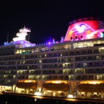 Disney-Dream-at-night-Nassau-Bahamas-TravelXena