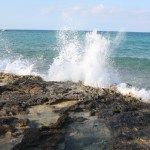 Great-Stirrup-Cay-Water-Hitting-Rocks-TravelXena