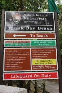 Trunk Bay Beach Virgin Islands National Park Sign TravelXena