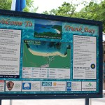 Welcome to Trunk Bay Information Sign TravelXena