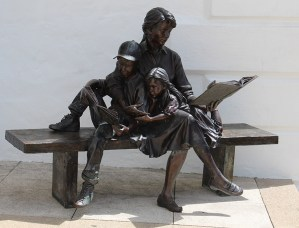 Bronze Sculpture in front of Bermuda National Gallery 2
