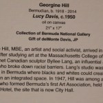 Georgine Hill Lucy Davis 1950 Bermuda National Gallery Travel Xena 2