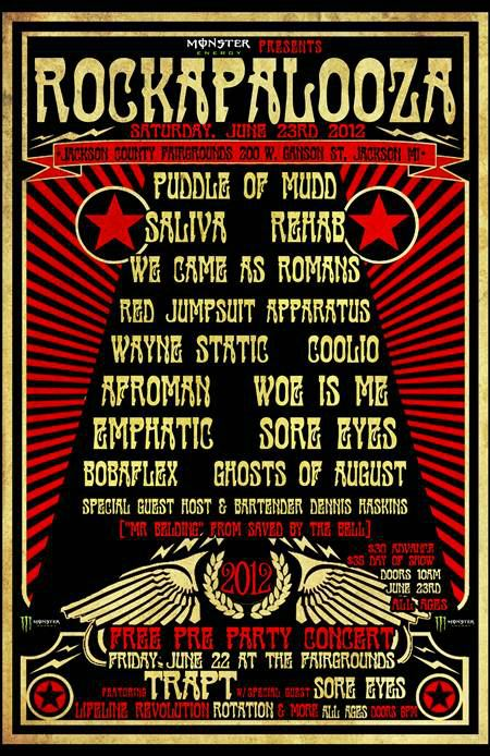 Rockapalooza Rockapalooza Has Announced The 2012 Lineup