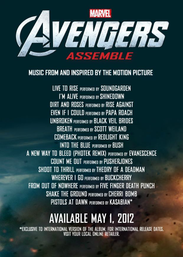 Avengers Assemble Soundtrack Black Veil Brides, Rise Against, And More On Avengers Soundtrack