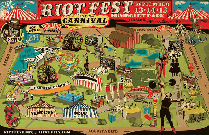 Riot Fest Chicago Pixies, Andrew W.K., Hatebreed, More Added To Riot Fest Chicago