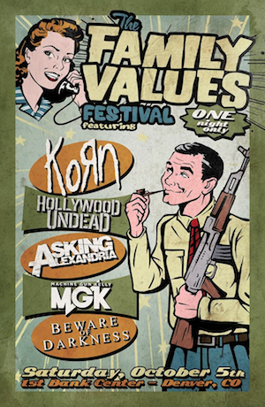 Korn Unveil Lineup For 2013 Family Values Festival Korn Unveil Lineup For 2013 Family Values Festival