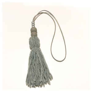 Grey tassel wall hangings