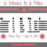 6 mile training plan