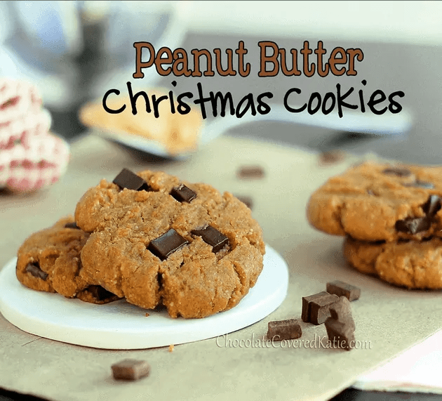 peanut butter Christmas cookies from chocolate covered katie