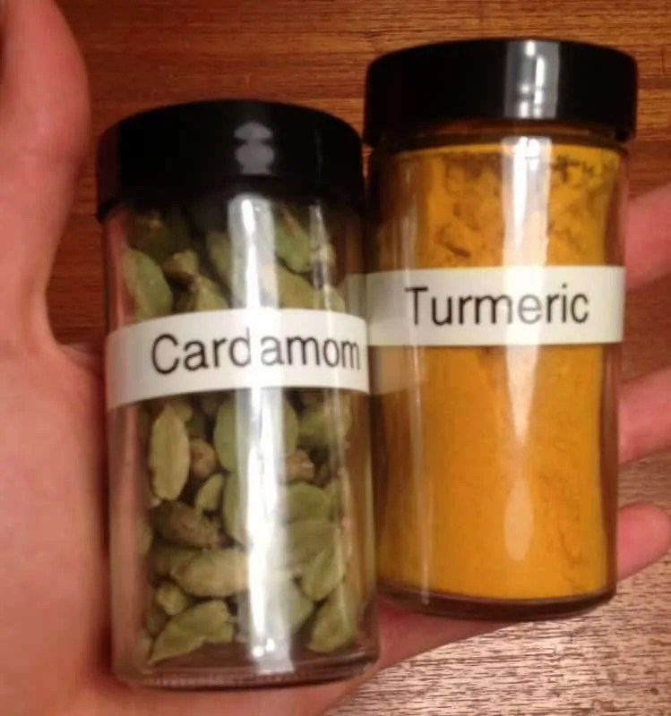 cardamom and tumeric