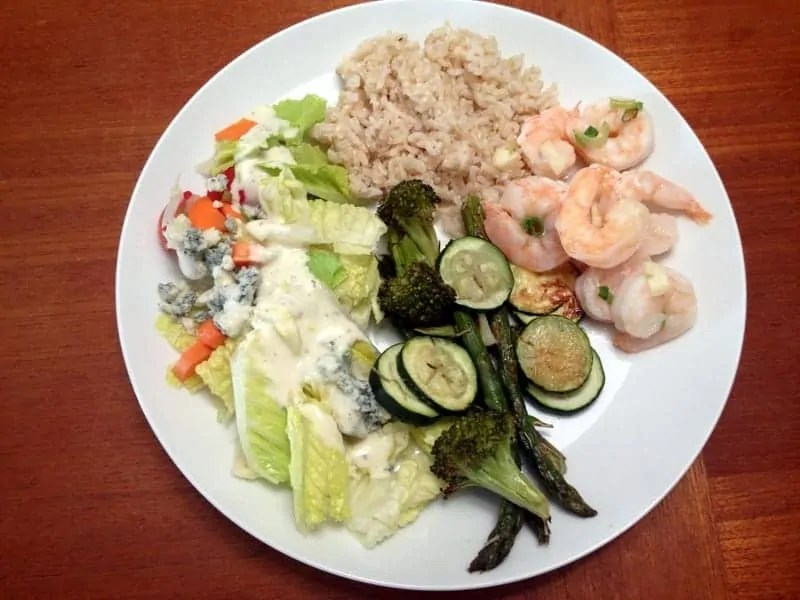 citrus shrimp dinner 1