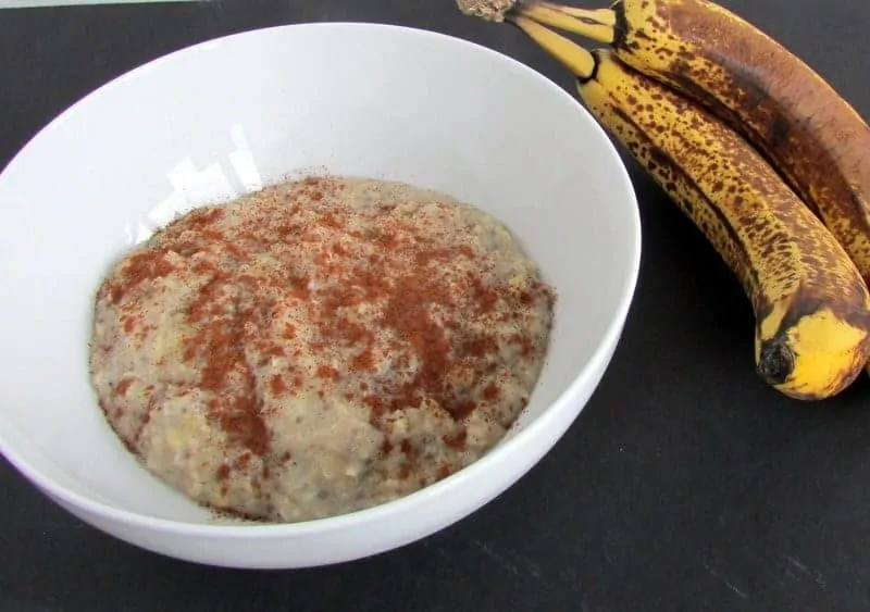 Egg White Banana Oatmeal via Treble in the Kitchen