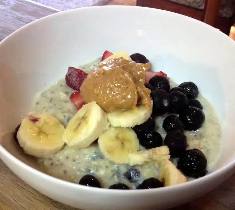 egg white banana oats