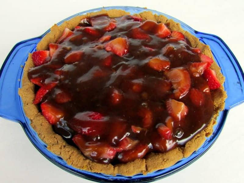 low FODMAP Strawberry Pie via Treble in the Kitchen