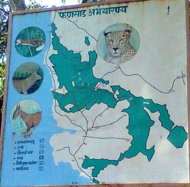 Phansad Wildlife Sanctuary - map