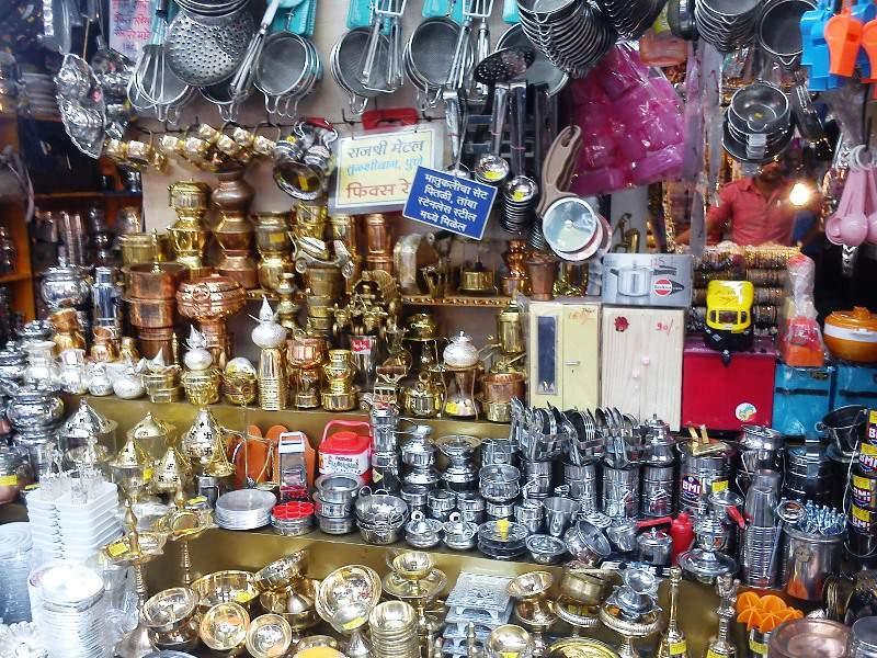 utensils brass items tulsi baug