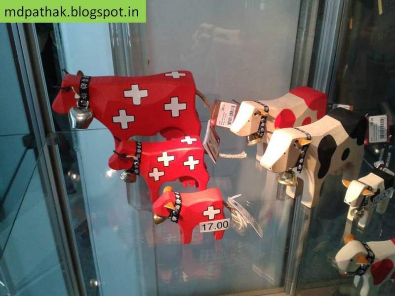 Switzerland souvenirs cows