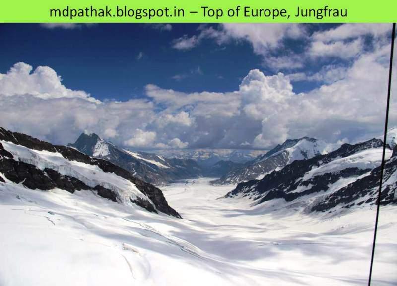 Top of Europe glacier
