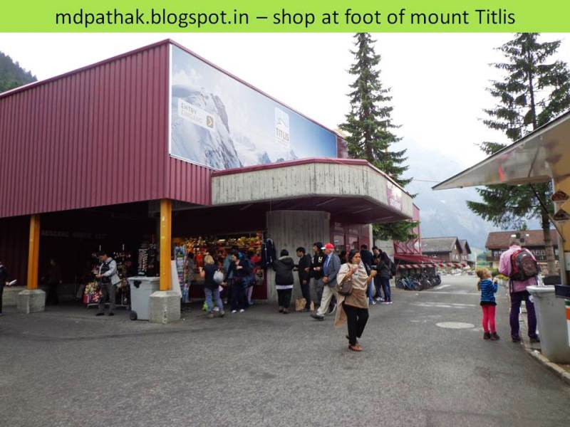 shops at the foot of mount titlis