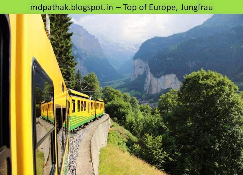 train to Lauterbrunnen