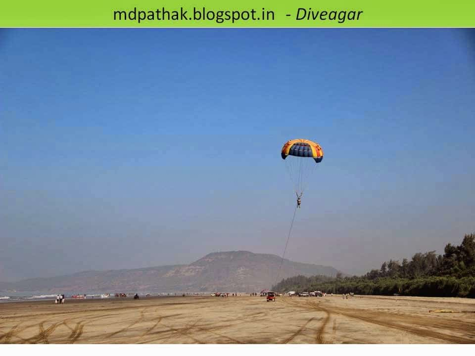 parachute game on sea beach of konkan