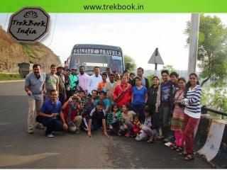 fona group on the way to Kalyangad Fort, Nandgiri Village, Satara