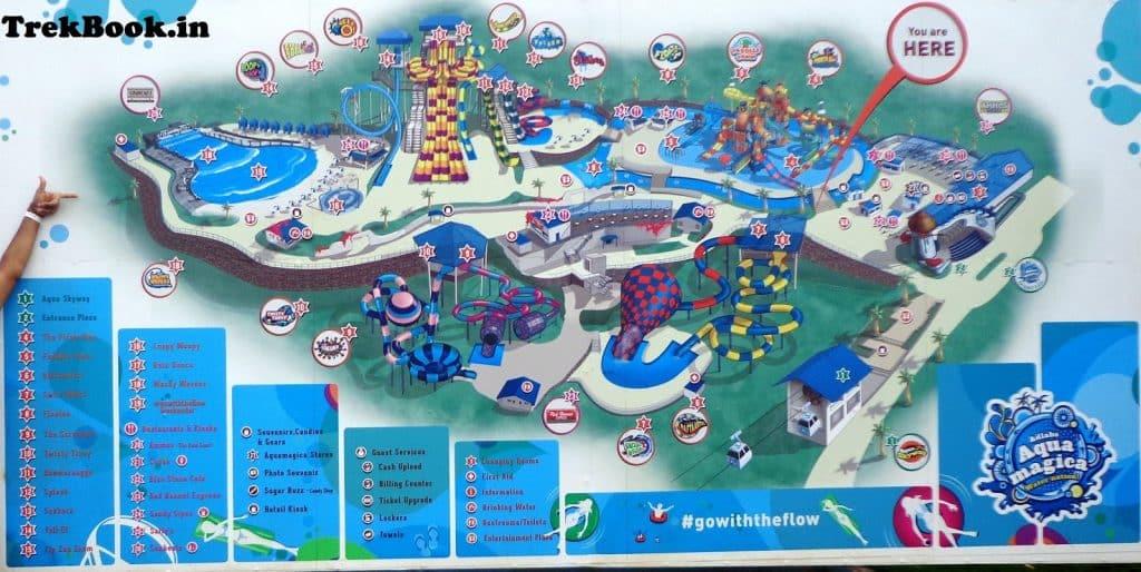 aqua magica india waterpark map