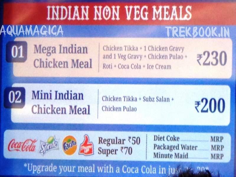 aquamagica indian non veg meals