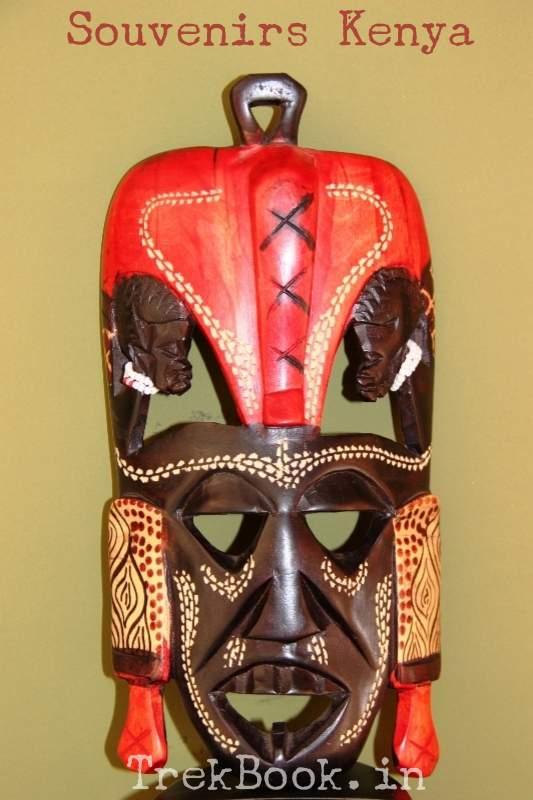 souvenir kenya masai tribal mask