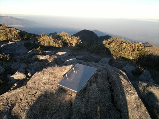 Livro de cume da Pedra da Mina