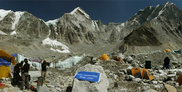 panoramica acampamento base everest