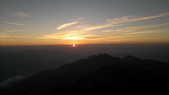 Vista do pôr do sol no Capim Amarelo