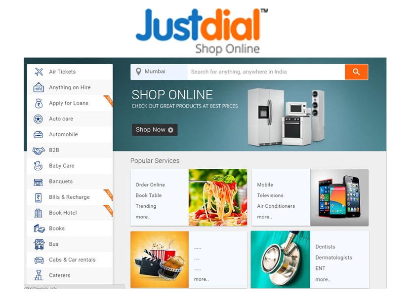 Just dial – Online Shopping | Justdial Login