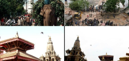 Historical sites destroyed by the earthquake in Kathmandu - Before and after
