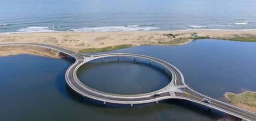A Circular bridge in Uruguay becomes the centre of attraction!