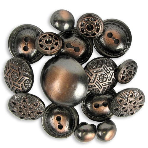 When were these copper buttons introduced?