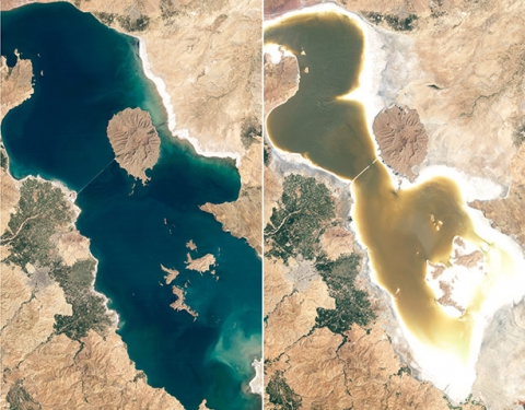 Drying up of Lake Urmia, Iran