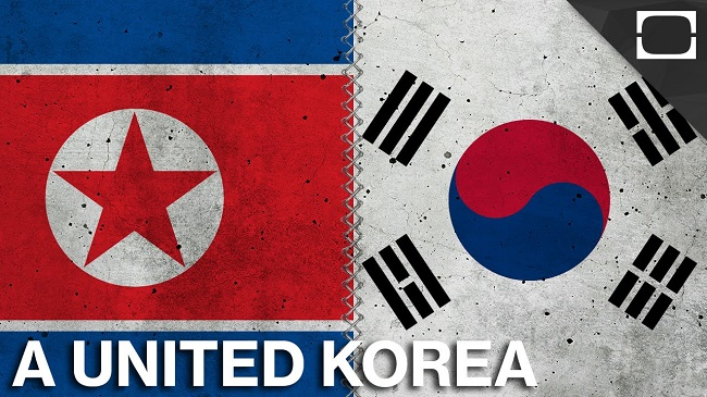 North Korea and South Korea Merge