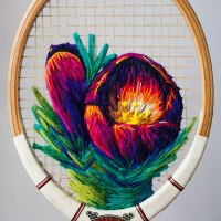 Danielle Clough Turns Tennis Rackets Into Art Objects