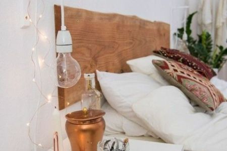 hngeleuchte glhbirne lampen schlafzimmer deko ideen kupfer resized