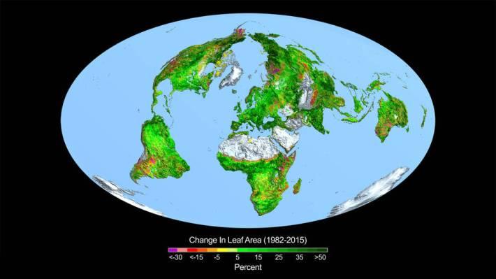 地球の緑化調査図
